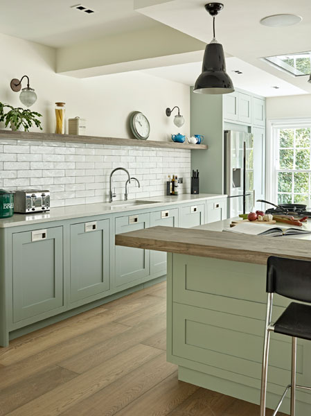 Pastel Shaker style kitchen