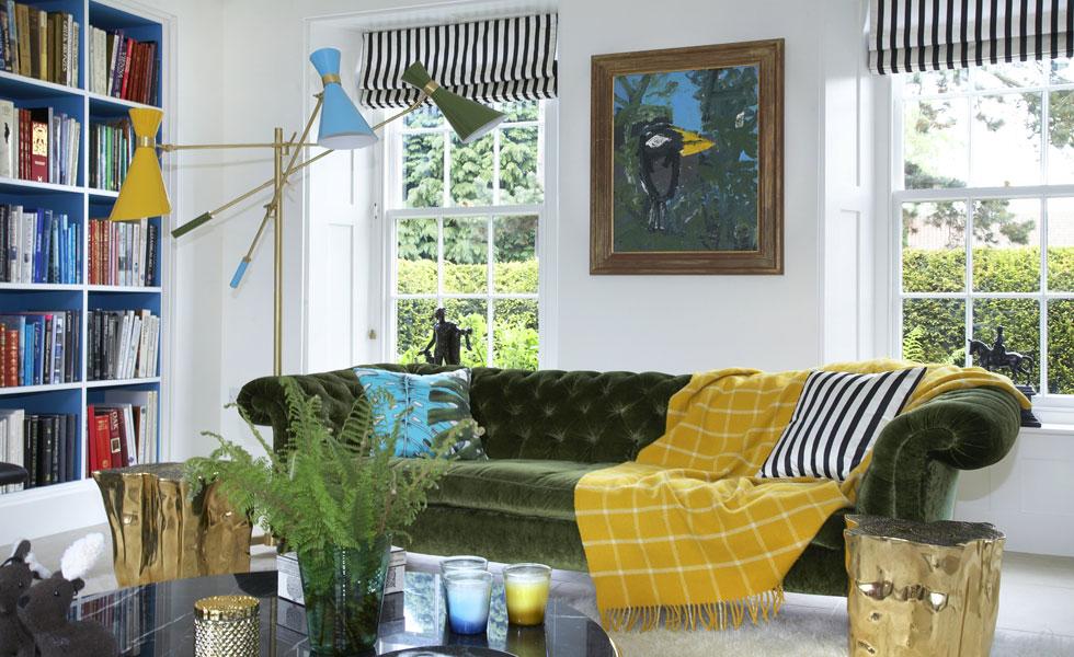 Bold living room design