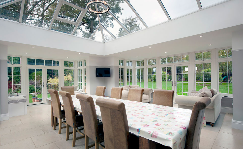 New conservatory with roof lantern