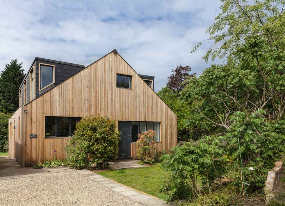 Vetical timber cladding
