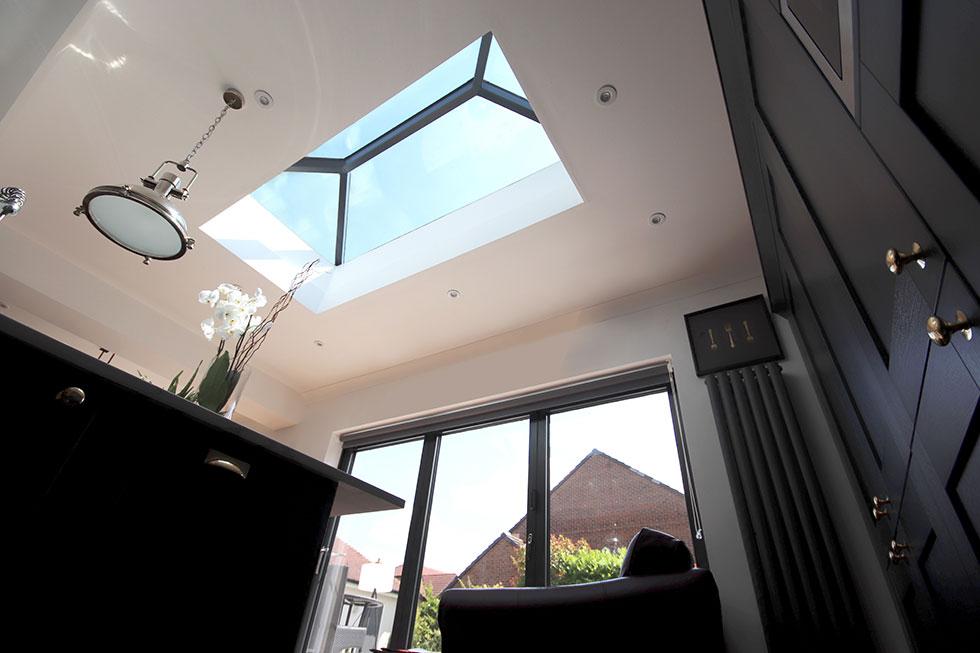 korniche roof lantern and bifold