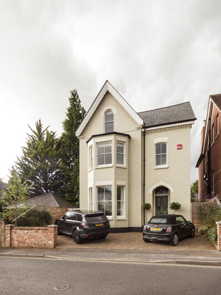 Three storey listed house with modern extension