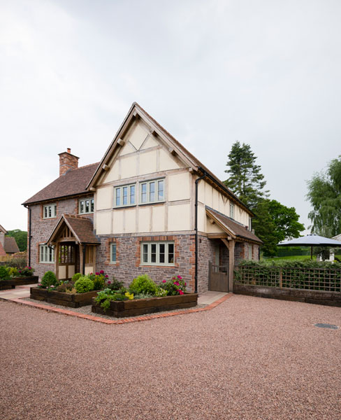 Oak framed home with render infill