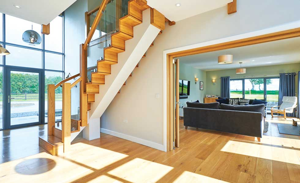 the open plan layout can improve home security by providing unobstructed views to the front and the rear of the property