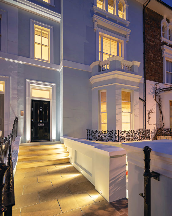 Lighting the pathway can act as a deterrent to burglars