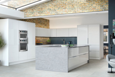 Contemporary glazed kitchen extension
