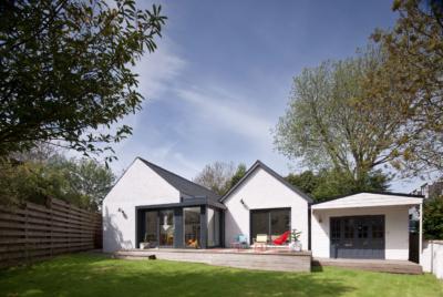 White render bungalow renovation