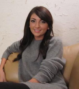 Brittney Jones Ashton Kutcher grey sweater