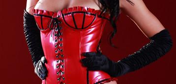 Skin Two latex corsets