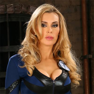 Porn star Tanya Tate in latex