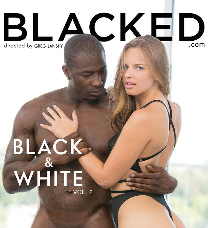 XXX starlet Jillian Janson graces the box cover of interracial adult film Black & White Volume 2.