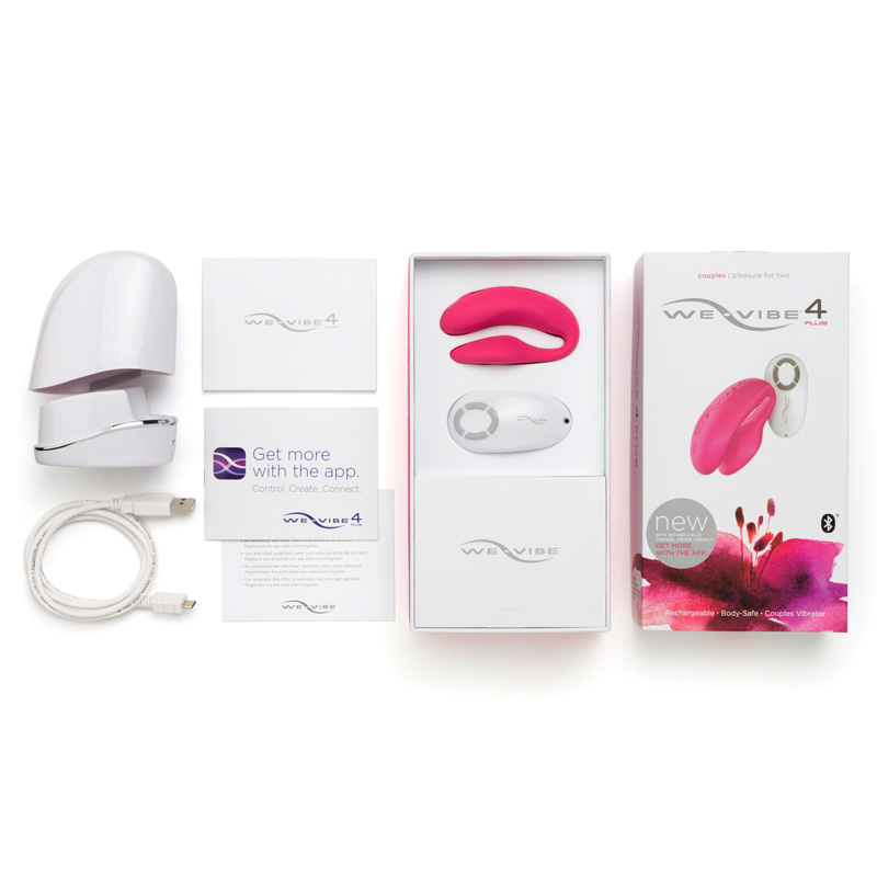 We-Vibe 4 Plus Couples Clitoral and G-Spot Vibrator Pink
