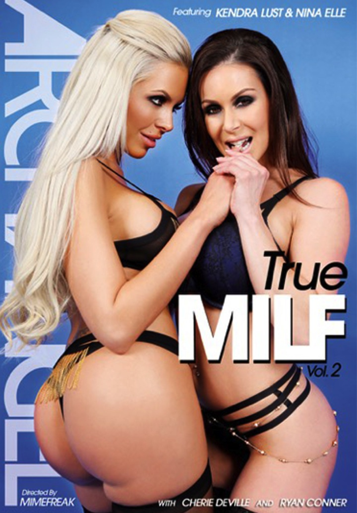 Kendra Lust and Nina Elle on the cover of True MILF