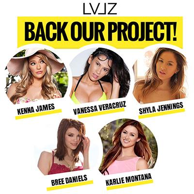 LVLZ, Vanessa Veracruz, Shyla Jennings, Kenna James, Bree Daniels, Karlie Montana, Rick Shameless, Indigogo, GoFundMe, Paypal, crowdfunding