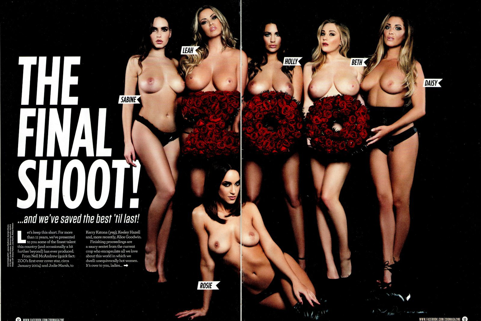 Rosie Jones & Friends - Zoo Magazine shoot