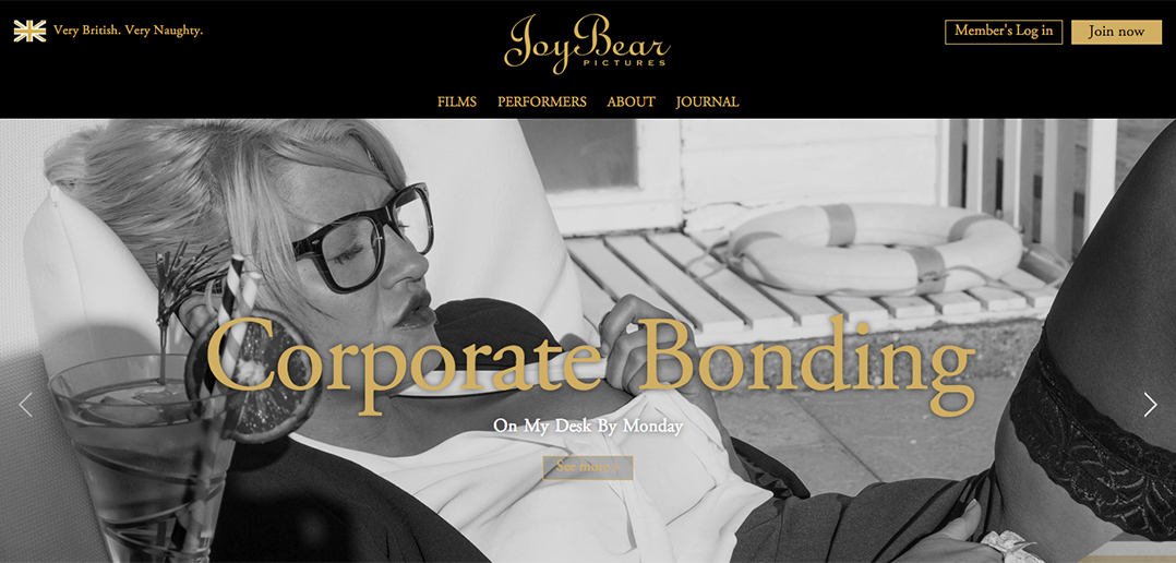 British porn JoyBear launch new website
