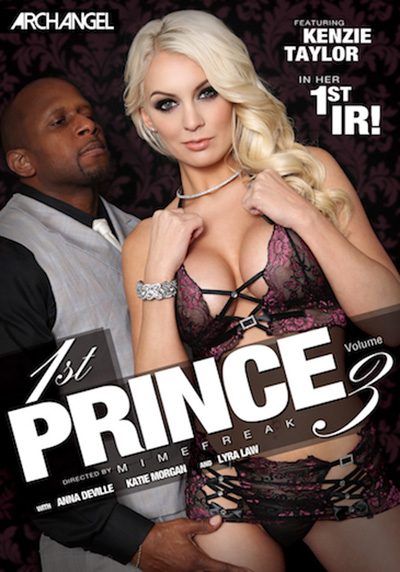 "Prince Yahshua poses on the cover of ""1st Prince Volume 3"" with stacked blonde Kenzie Taylor"