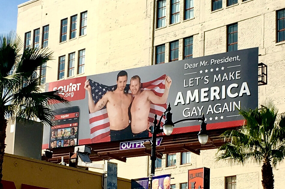 Squirt.org : Trump, 'Let's Make America Gay Again'
