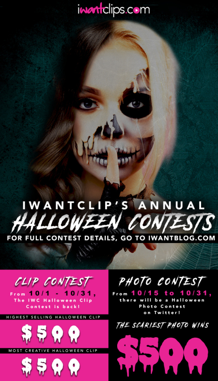 iWantClips Halloween flyer