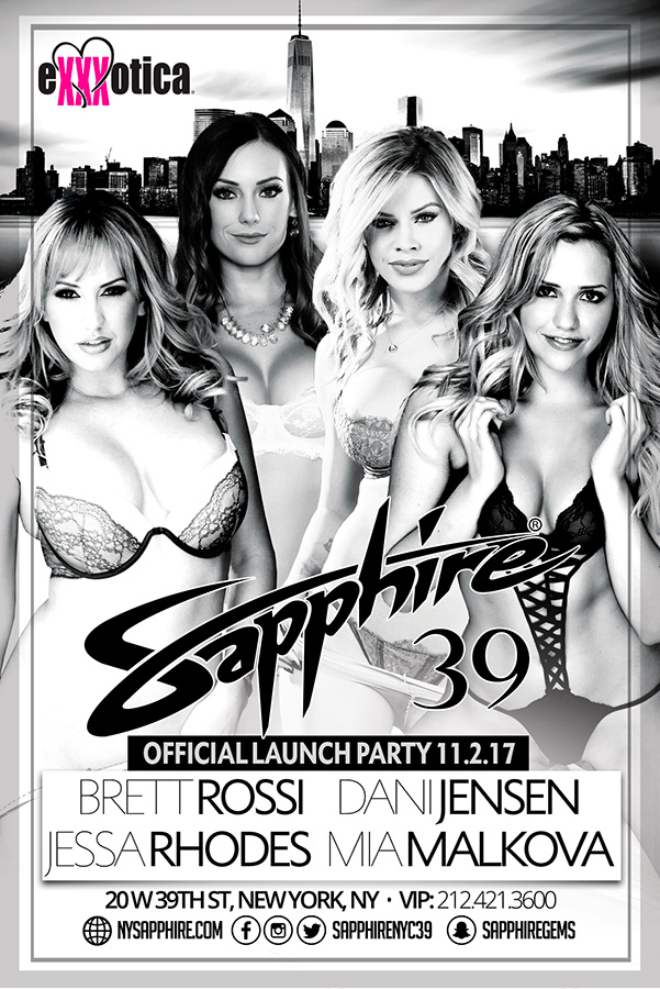 Exxxotica Launch Party poster