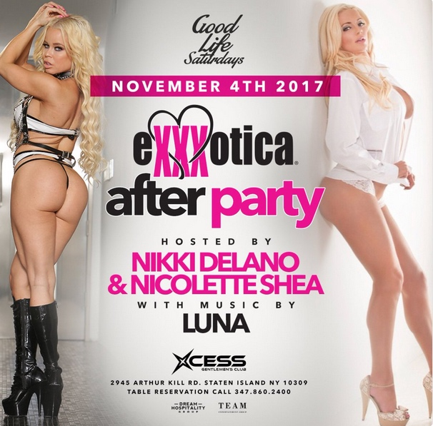 Nikki Delano Exxxotica after party poster