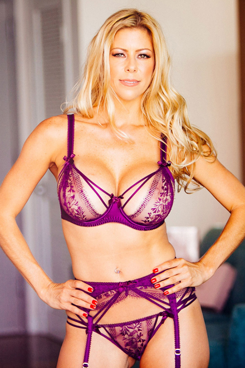 porn star Alexis Fawx in see-through lingerie