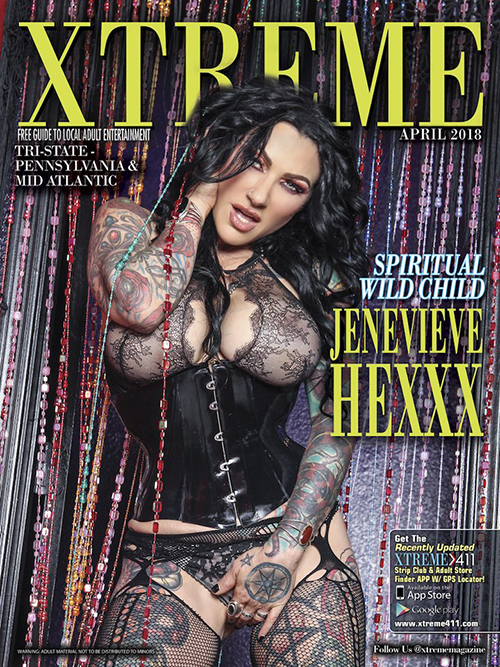 Jenevieve Hexxx is gracing the April cover of Xtreme Magazine