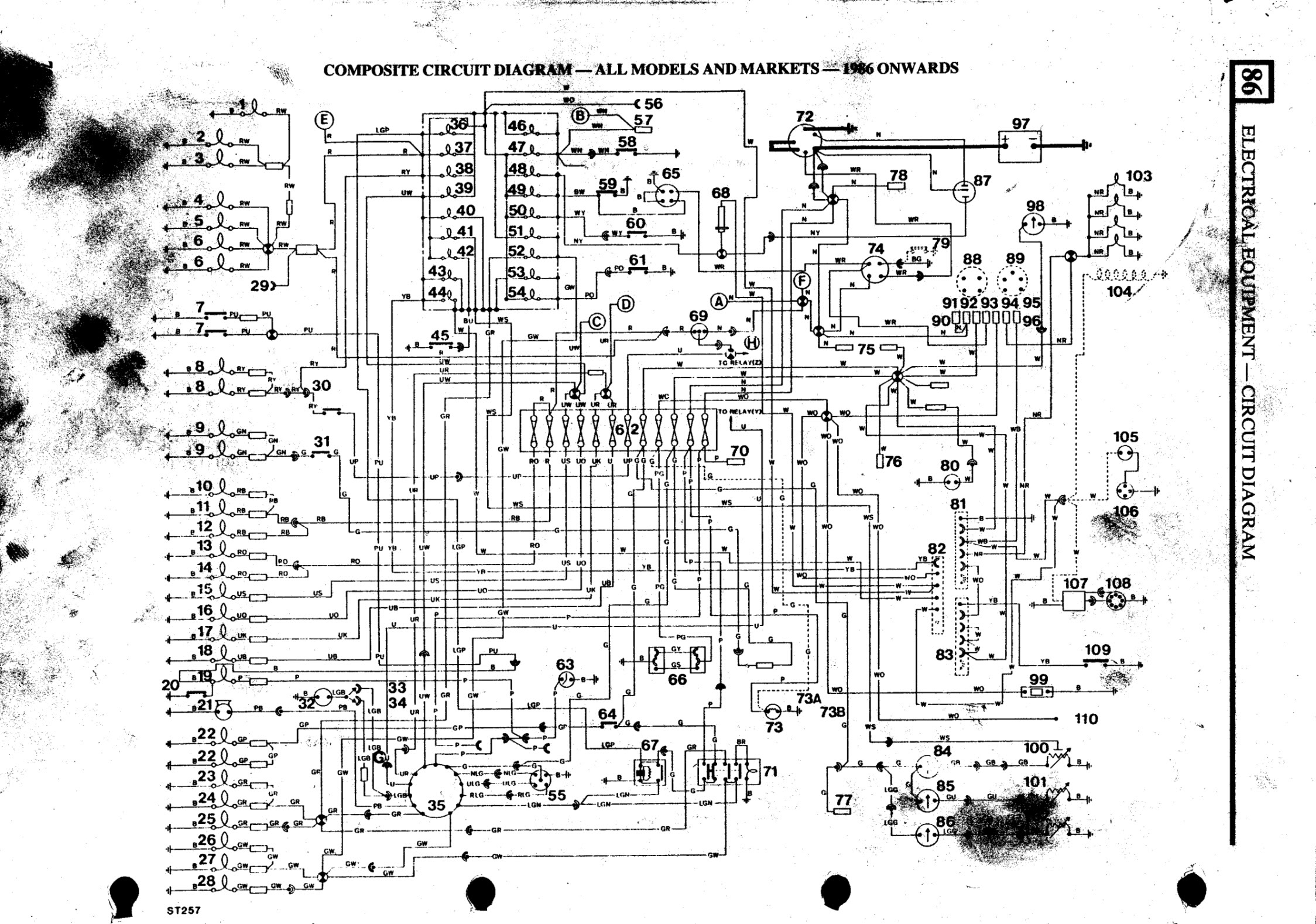 defender 90 wiring diagram wiring diagrams owner  land rover defender 90 rear wiring diagram #3