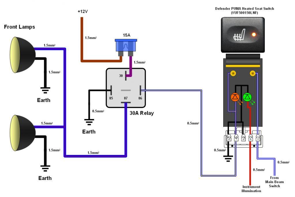 Schema Elettrico Per Fendinebbia : Schema elettrico rele tecno switch