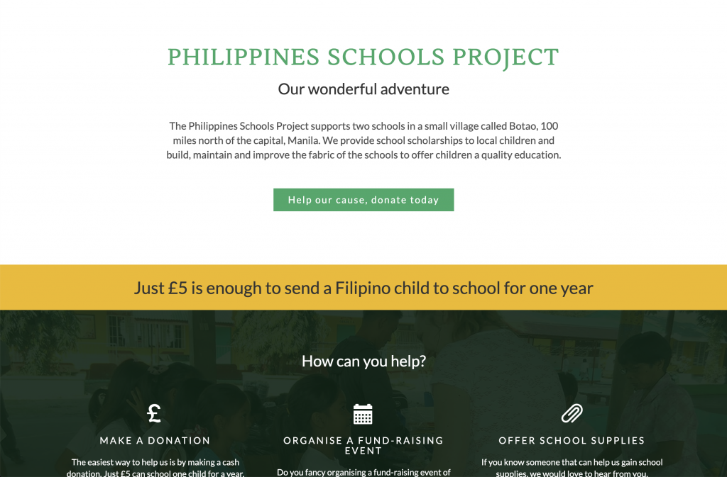 Philippines Schools Project homepage