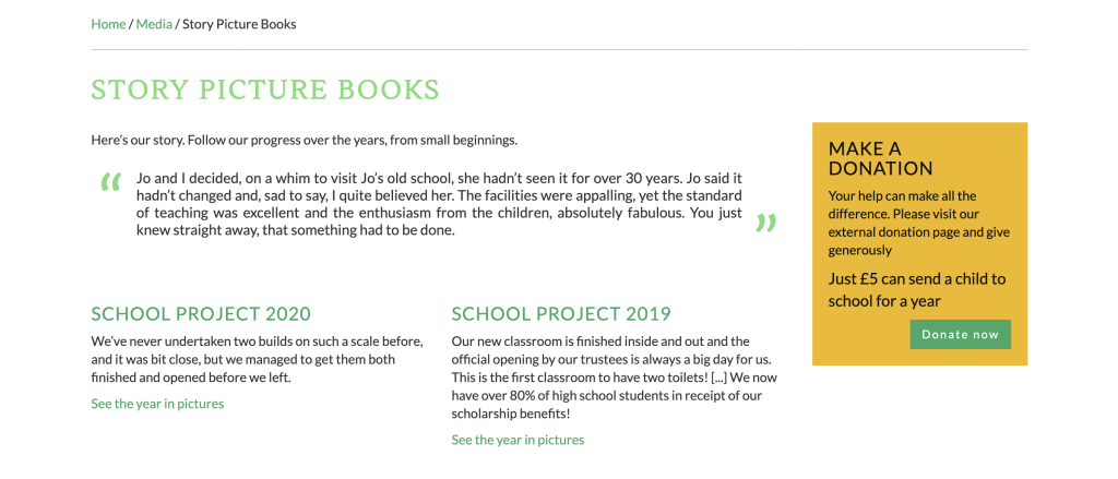 Philippines Schools Project story picture books page