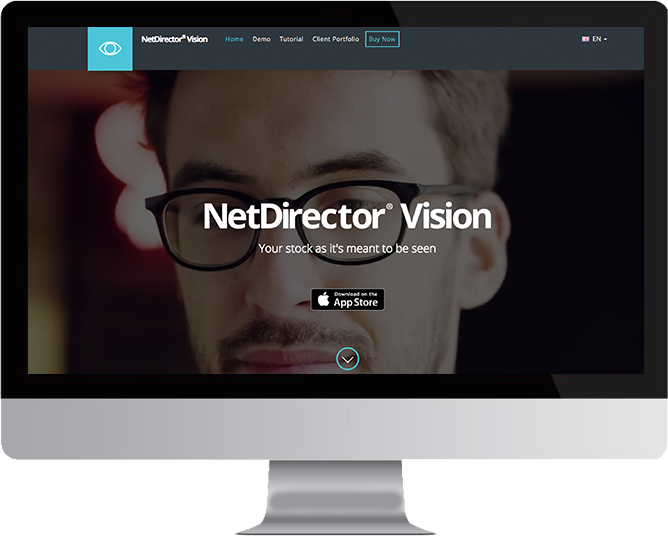 NetDirector Vision website in Mac