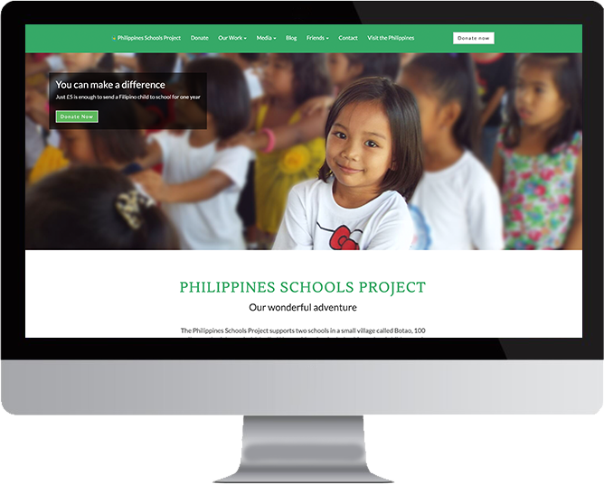 Philippines Schools Project website in Mac