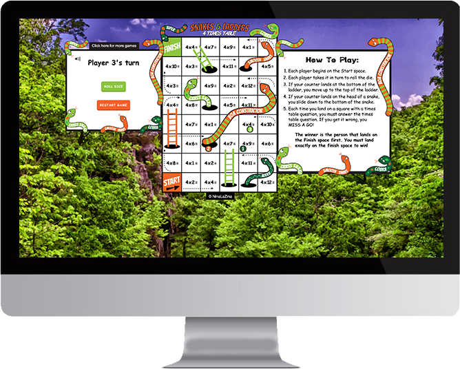 Snakes & Ladders website in Mac