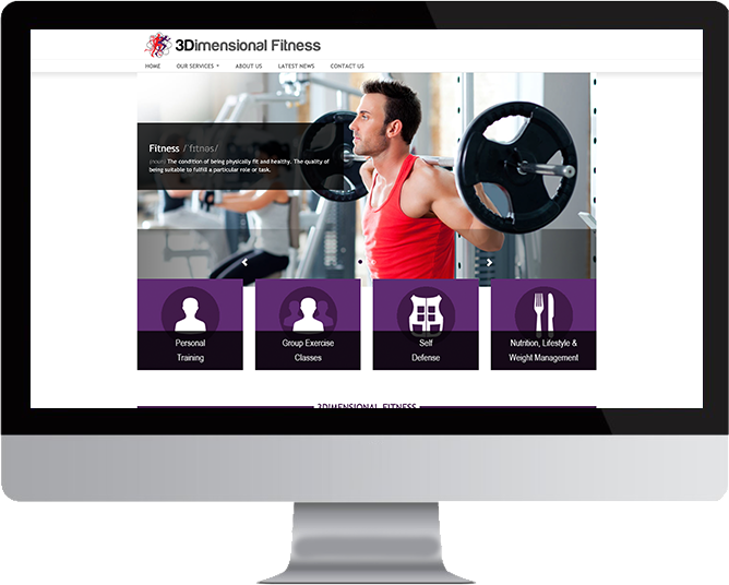 3Dimensional Fitness website in Mac