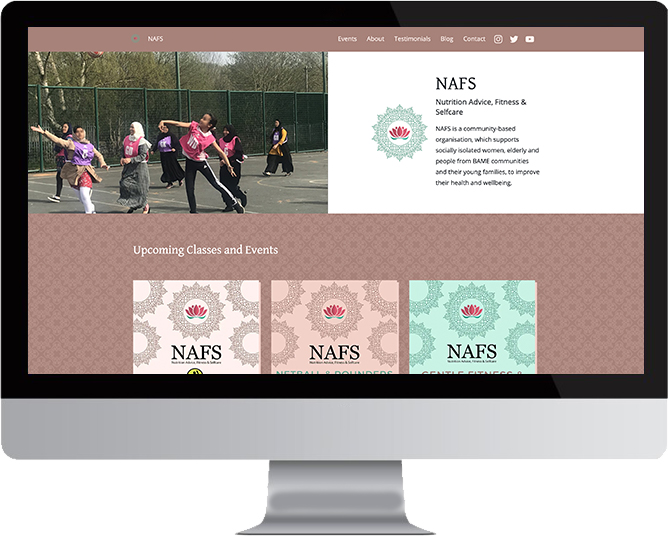 NAFS website on a Mac screen