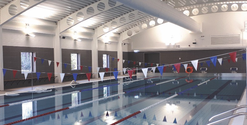 The £2.8m competition-sized pool development replaces the school's outdated 1970s facility