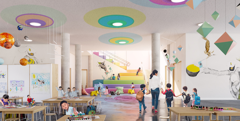 The kindergarten is due to open in Autumn 2019 and will feature flexible spaces to suit varied learning styles