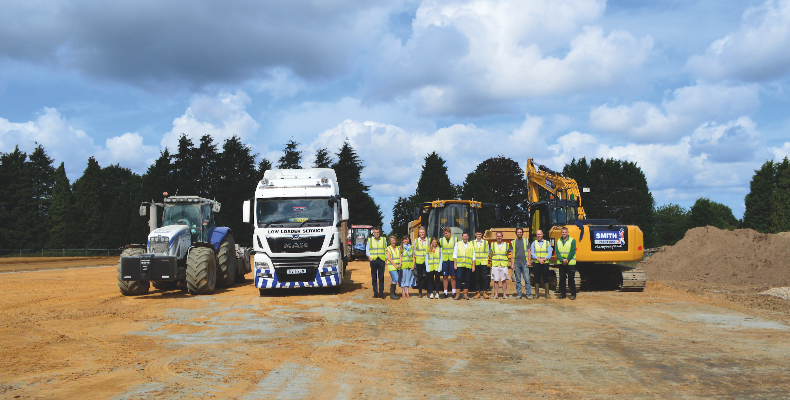 Representatives from Highfield and Brookham Schools, Traction Sport and Smith Construction