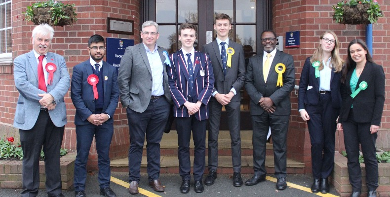 Solihull pupils mixing with the town's 2019 election candidates