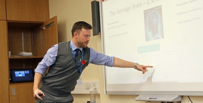 Barnard Castle School's Peter Lavery co-hosted the event