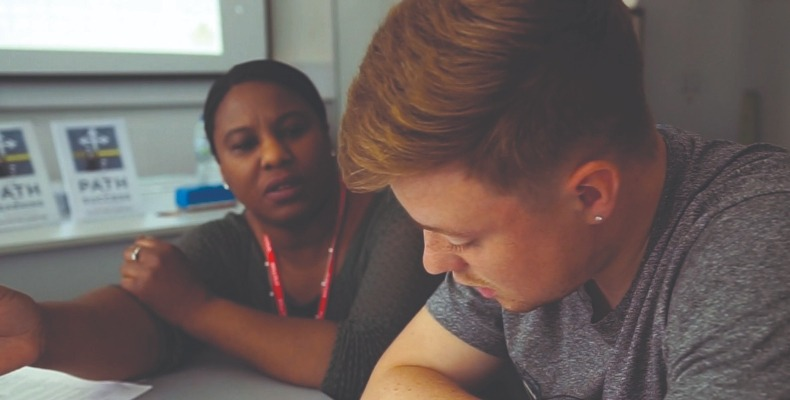 OVP Coaching supports students who want to take responsibility for their future (Image © Clare Jones, Bright Light Film)