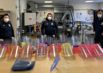 Coronavirus: Stamford D&T teachers producing 200 face masks a day for NHS