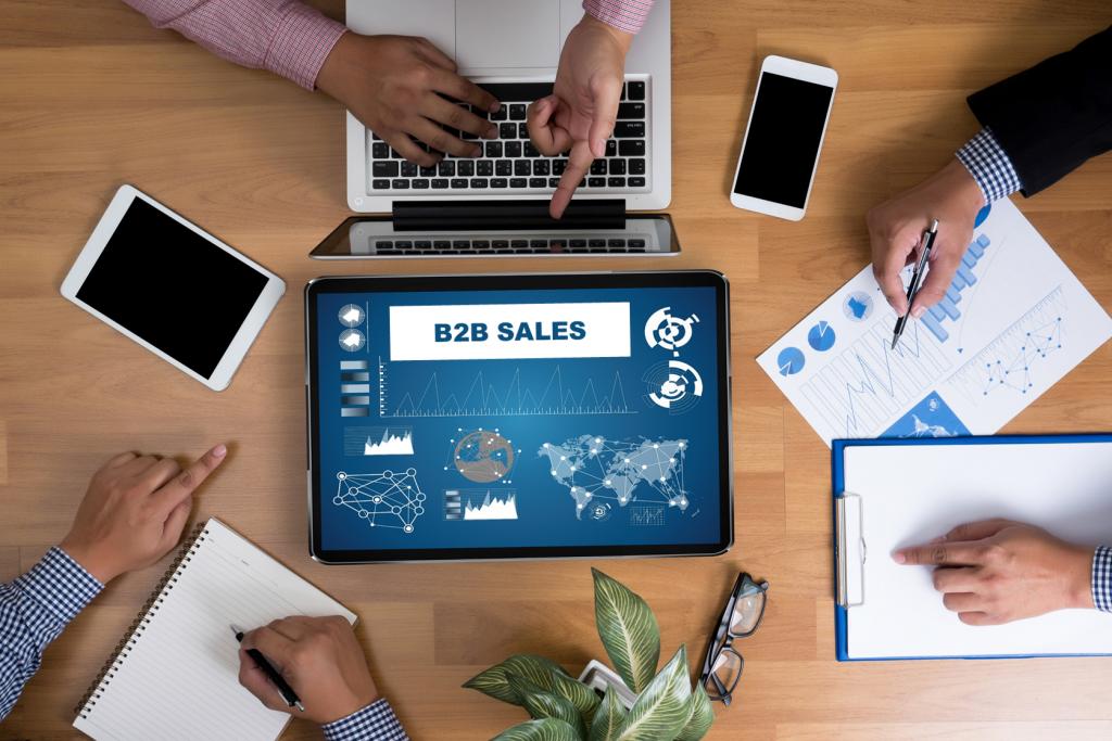 B2B sales team