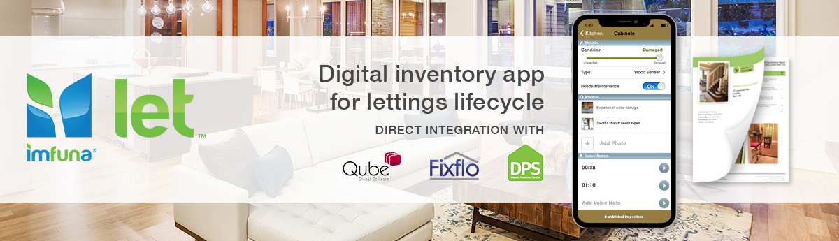Mobile inventory report app software for property inventories, inventory clerks, and letting agents