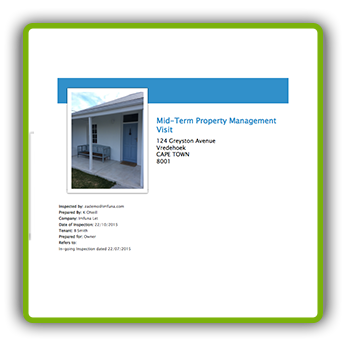 Sample Report - Mid-term Property Management Visit