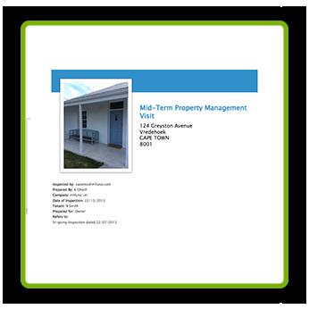 Sample Report - Mid-term Property Management Visit