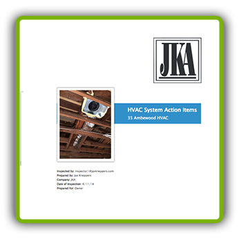 Imfuna Sample Report - Initial Punchlist Report HVAC System Action Items