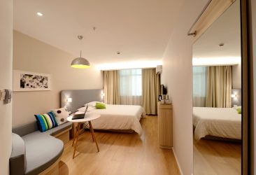 Space-saving hotel room models will soon be applied to the apartment rental scene