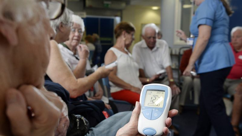 Group of patients using the INR self-testing service